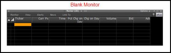 blank monitor