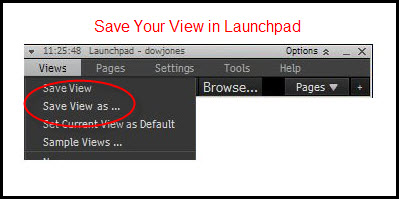 save launchpad view