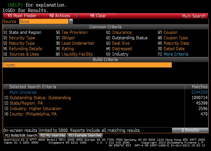 Bloomberg: corporate bonds - Fast Answers