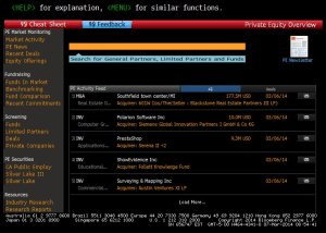 PE bloomberg FIRST MENU