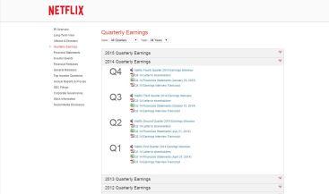 Netflix Quarterly Earnings