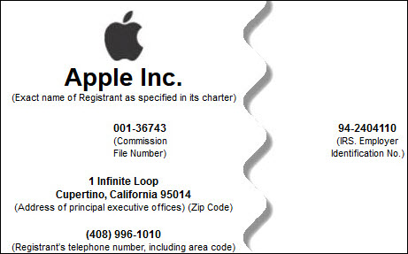 employer identification number apple inc