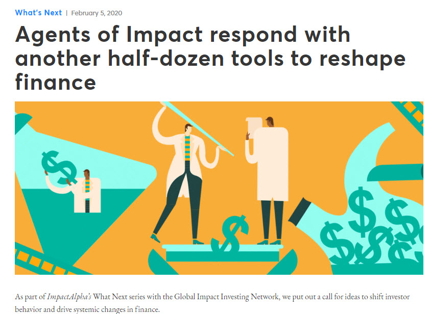 Image for a news story from Impact Alpha showing scientists developing new tools for impact financing