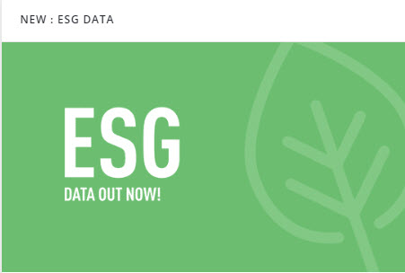 Image from Preqin Pro announcing their ESG ratings data.