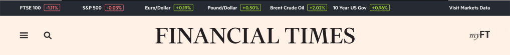 This is an image of the header of the FT.com site.